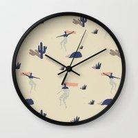 swim Wall Clocks featuring Dezert swim by .eg.