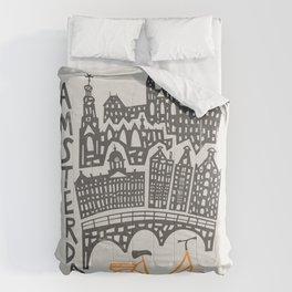 Amsterdam Cityscape Comforters