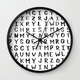 Christmas Word Search Wall Clock