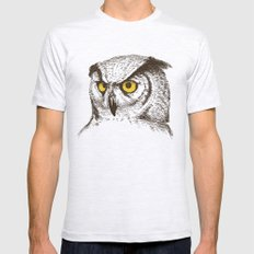 Owl SMALL Ash Grey Mens Fitted Tee