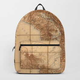 Map Of Bolivia 1904 Backpack