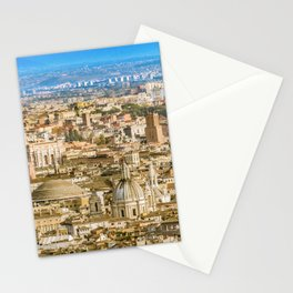 Rome Aerial View From Saint Peter Basilica Viewpoint Stationery Cards