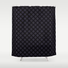 MAUDE subtle mauve geometric pattern on black Shower Curtain