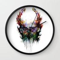 loki Wall Clocks featuring loki by ururuty