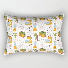 Retro Kitchen - Orange and Green Rectangular Pillow