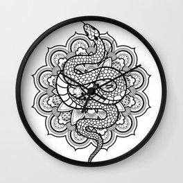 Snake Mandala Wall Clock