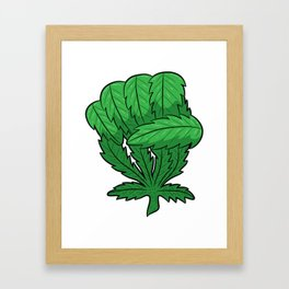 Weed Fist | Cannabis Marijuana THC CBD Framed Art Print