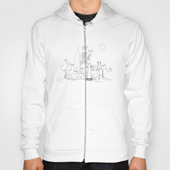 """THE CREW """"The invaders from Zxarcodol"""" series Hoody"""