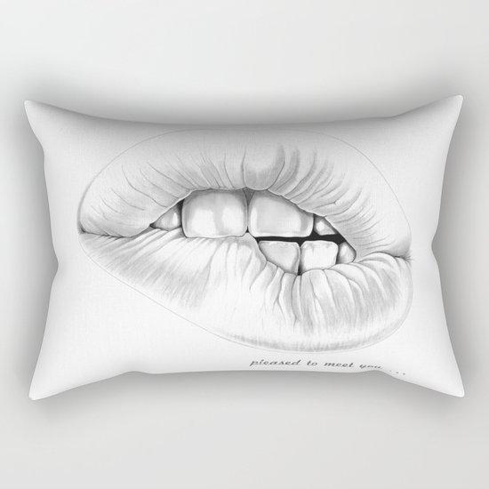 pleased to meet you ... Rectangular Pillow