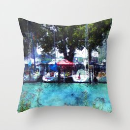 Sailboats At Detroit Yacht Club Throw Pillow