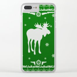 Supernatural Sam Holiday Sweater Clear iPhone Case