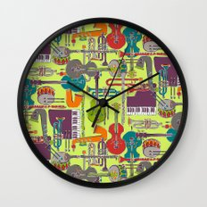 weave jazz multi Wall Clock