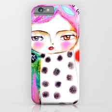 Dream a bit...every day! pink hair girl fish flowers Slim Case iPhone 6s