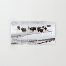 Yellowstone National Park - Bison Herd Hand & Bath Towel