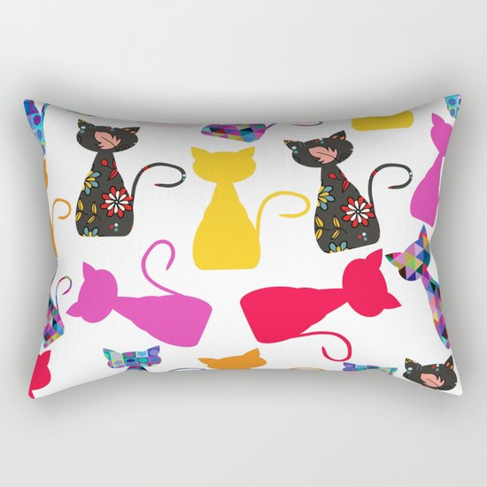 Cats pattern #4 Rectangular Pillow