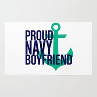 boyfriend Area & Throw Rugs featuring Proud Navy Boyfriend by The Other McClane