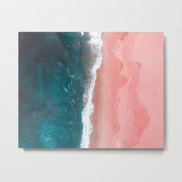 Turquoise Sea Pastel Beach Metal Print