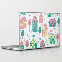 home sweet home Laptop & iPad Skins featuring Home by One April