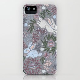 Hare and eggs iPhone Case