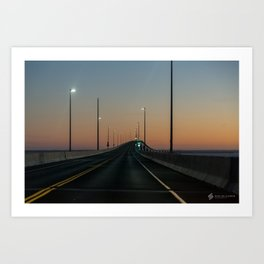 Bridge after sundown Art Print