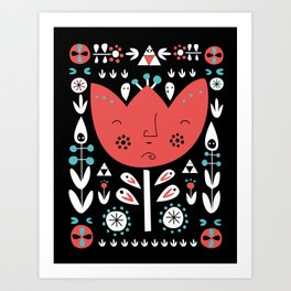 Folksy - Night Art Print