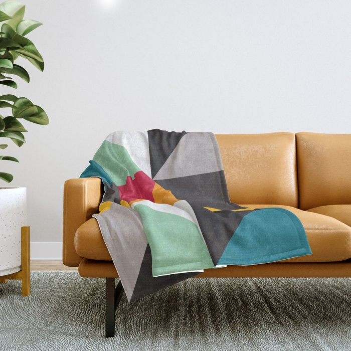 Geometric Pattern #30 (triangles) Throw Blanket