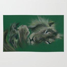 cuddly lion Rug