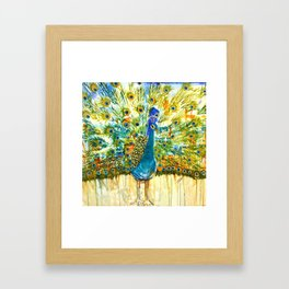 Peacock Pout, painting Framed Art Print