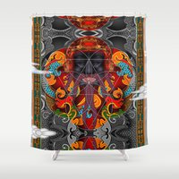 sacred geometry Shower Curtains featuring Sacred Geometry by Robin Curtiss