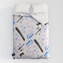 Watercolor Pattern Play in Amethyst Comforters