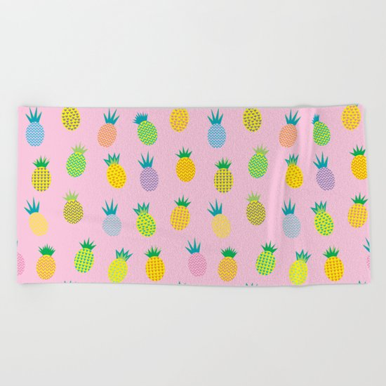 Pineapple Party Beach Towel