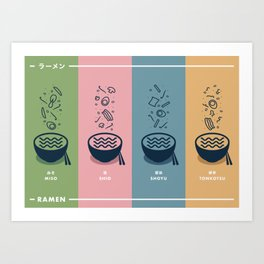 Ramen Series - Combination Art Print
