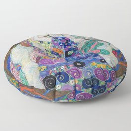 The Maiden Gustav Klimt Floor Pillow