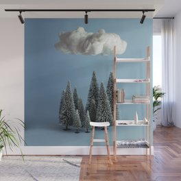 A cloud over the forest Wall Mural