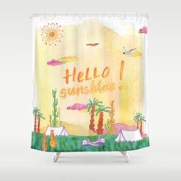 Hello Sunshine Exotic Landscape Shower Curtain