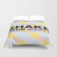 booty Duvet Covers featuring Shake your booty! by Deni Soares