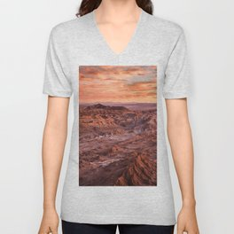 Desert orange Unisex V-Neck