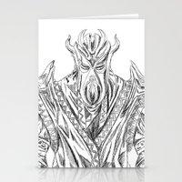 skyrim Stationery Cards featuring skyrim dragonborn miraak by  Steve Wade ( Swade)