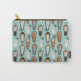 Coffins halloween pattern vampire cute spooky holiday pattern by andrea lauren Carry-All Pouch