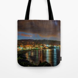 Crescent Moon Over Main Beach Tote Bag