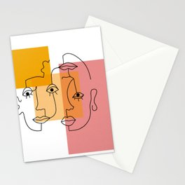 COLOR BLOCK FACES Stationery Cards