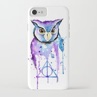 hedwig iPhone & iPod Cases featuring Hedwig by Simona Borstnar
