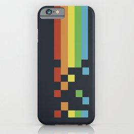 1980s Colorful Vintage Bitmap Pixel iPhone Case