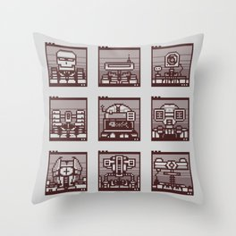 Robot Mugshots Throw Pillow