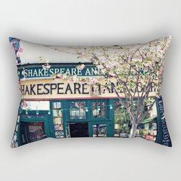Cherry blossoms in Paris, Shakespeare & Co. Rectangular Pillow
