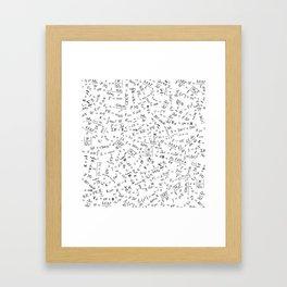 Equation Overload II Framed Art Print