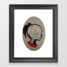 Girl Next Door = Silhouette and Anatomy Love Painting Framed Art Print