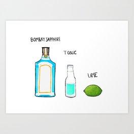 Bombay Sapphire Gin  Art Print