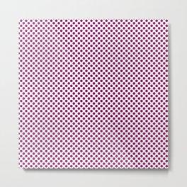 Cardinal Pink Polka Dots Metal Print