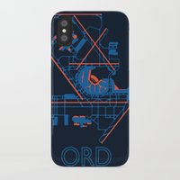 60s iPhone & iPod Cases featuring O'Hare (ORD) - 60s by Kyle Rodgers